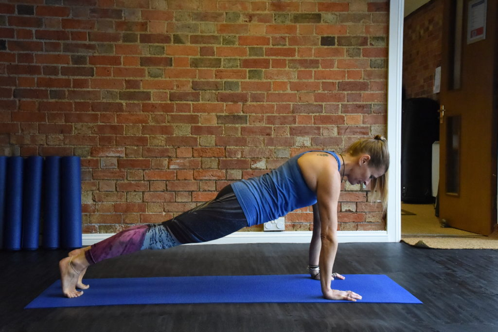 Lisa raphael in pilates high plank pose